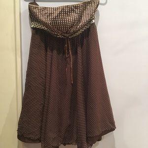 bebe Dresses - Bebe Strapless Silk Mini